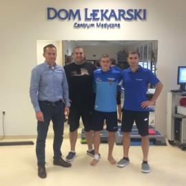 (od lewej) Dr Bartosz Paprota, Maciej Mirocha, Oleksandr Shamotii, Adam Wandachowicz